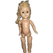 Nude Ginny sl Walker doll or parts or make over! Free P&I US Buyers!