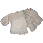 Adorable Pink Knit Sweate fo Dy Dee Baby Doll & Fiends .  Fee P&I US Buyers!