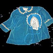 Vintage Velvt Coat & Bonnet for Larger Doll PlayPal type Free P&I US Buyers