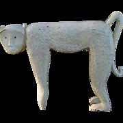 "Awesome Large 30"" High Wood Carved Decorative Monkey  Free P&I US Buyers"