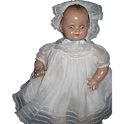 "Adorable 17"" Ideal Pat. No 2252077 Bay Doll original outfit Free P&I US Buyers"