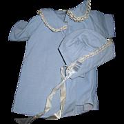 Wondeful Baby Blue Bonnet  & Coat for DyDee & Friends Free P&I US Buyers