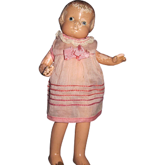"""9"""" Patsyette Effanbee Composition Doll Great for restoration or parts Free P&I US Buyers"""
