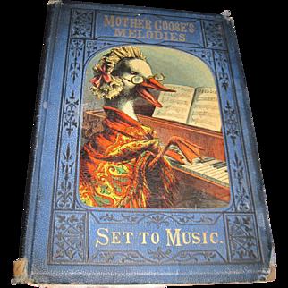 1800's Mother Goose Nursey Rhymes  Nursey songs Set to Music J W Elliott Free p&I US Buyers