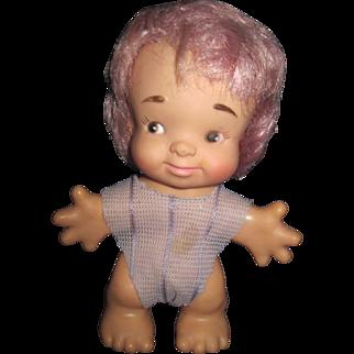 "Rare 7"" Lavender/Pink  Hair Uneeda Troll Free P&I US Buyers"