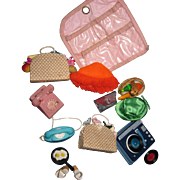 Assortment of Barbie Doll Accessories phono,phones,hats,shoes & mor Free P&I US Buyers