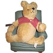 John R Wright Pooh Bear & Chair Free P&I US Buyers