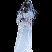 Beautiful Vintage 30's Bride Dress & Veil( box for veil)  Free P&I US Buyers