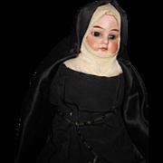 "18"" Bisque Huebach NUN doll head (shoulder Damage) Free P&I US Buyers"