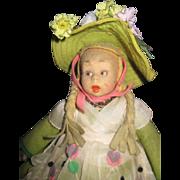 "Vintage 10"" Lenci Mascotte Doll wlabel  Free PI US Buyers"