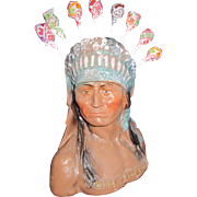 "Rare Wonderful 10 "" Chief Wtta POP Lollypop Candy Holder  Free P&I US Buyers"