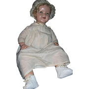"Rare 20"" composition Shirley Temple Flirty Baby doll Free P&I US Buyers"