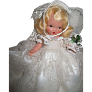 No. 86 Nancy Ann Bride Doll jl Silver Slippers Box Free P&I US Buyers
