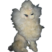 Vintage Maxwell Hay Poodle Dog would look beautiful wBisque dolls Free P&I US Buyers