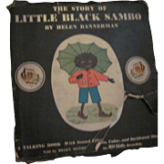 Helen Bannerman The Story of Little Black Sambo A talking Book Free P&I US Buyers