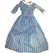 Wonderful Indigo Blue doll dress for China or Bisque  Free P&I US Buyers