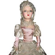 "Lovely 26"" Boudoir Doll w/ lash needs a little help Free P&I US Buyers"