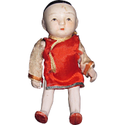 "4"" Occupied Japan all Bisque Doll Free P&I US Buyers"