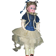 "Lovely 20"" Wax Glass SE doll Free P&I US Buyers"