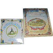 2 Tasha Tudor  Books Mother Goose & Tasha Cook Book Free P&I US Buyers