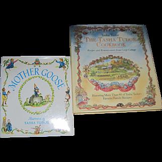 2 Tasha Tudor  Books Mother Goose & Tasha Cook Book Free P&I US Buyers