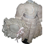 Beautiful Dress & hat for your China 0r Bisque doll Free P&I US Buyers