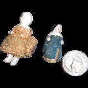 2 Tiny Dressed China Frozen Charolettes Free P&I US Buyers