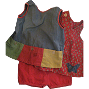 Two Smock tops & pr Shorts Patty Playpal or large Doll Free P&I US Buyers