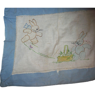 In time for Easter Doll Baby bunny Pillow case Free P&I US Buyers