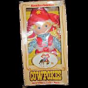 1981 Knickerbocker Cloth Cowpokes MIB Doll Free P&I US Buyers