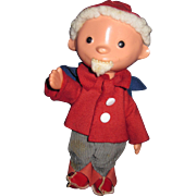 "9"" German Dwarf Gnome Elf Doll Free P&I US Buyer"