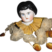 "4"" China Doll Head Unique presentation Free P&I US Buyers"