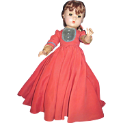 """14"""" Madame Alexander Vintage Redhead Little Women Jo Doll Tagged Free P&I US Buyers"""