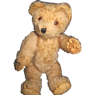 "9"" Adorable Straw Stuffed jointed Teddy Bear Free P&I US Buyers"