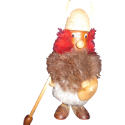 "7.5"" Wood Denmark Viking Troll Free P&I US BUYERS"