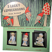 Ireland WADE 3 Lucky Leprechauns w/box Fee P&I US Buyers