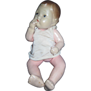 """Beautiful 6"""" Japan Bisque Thumb sucking Baby doll. Free P&I US Buyers!"""