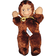 "Adorable 12"" Knickerbocker Kuddles Stuffed Monkey Free P&I US Buyers"