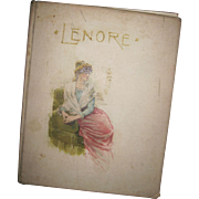 Rare 1885 Edgar Allen Poe LENORE  Illus Book Free P&I US Buyers