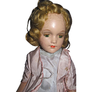 "Beautiful 15""  R&B Alexander Compo Doll Tin eyes Free P&I US Buyers"