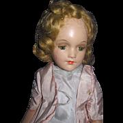 "Beautiful 15""  R&B Alexander Compo Doll Tin eyes Free P&I US Buyers"