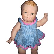 """Sweet 13"""" Porcelain Scootles  Doll   Free P&I US Buyers"""
