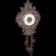 Black Forest 1880-1900 Carved Emile Egger Barometer for restration Free P&I US Buyers