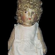 "17 "" Pouty Lenci type cloth Doll  Free P&I US Buyers"