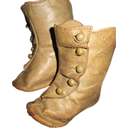 Wonderful High Button Heeled Doll shoes for bisque or china dolls Free P&I US Buyers