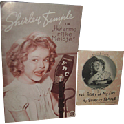 2 Vintage Shirley Temple Booklets Het arme rijke Meisje Poor Rich Girl Free P&I US Buyers