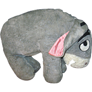 Adorable Large Plush Disney Land Vintage POOH EEYORE Free P&I US Buyers