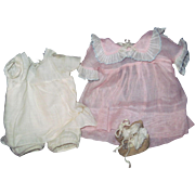 "30's Soft Pink Organdy outfit for 18"" Shirley doll and friends  Free P&I US Buyers"