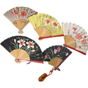 5 Lovely Miniature Fans for Sofisticated Dolls