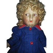 "Adorable 17"" side glance jointed Cloth Doll Free P&I US Buyers"